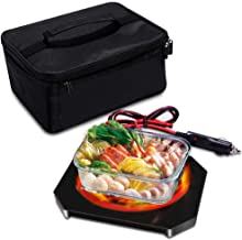 Triangle Power Personal Portable Oven, Electric Slow Cooker For Food,Mini Oven For Meals Reheat,Food Warmer with Lunch Bag For Car(12V)