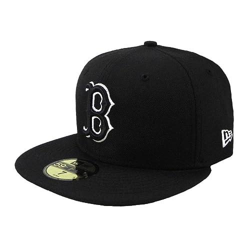 f65462198694fe New Era MLB Cap Boston Red Sox 59fifty Men's Headwear Black/white Fitted Hat
