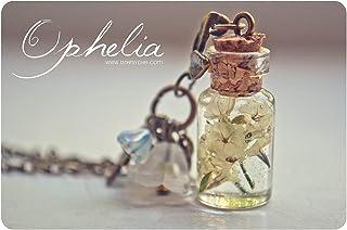 Collana di fiori gialli pressati, collana di fiori secchi, collana di fiala di fiori, gioielli botanici, regalo di giardin...