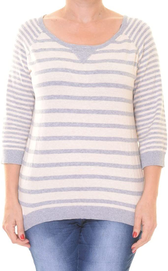 Pink Rose Juniors/' Striped Hi-Low Sweater