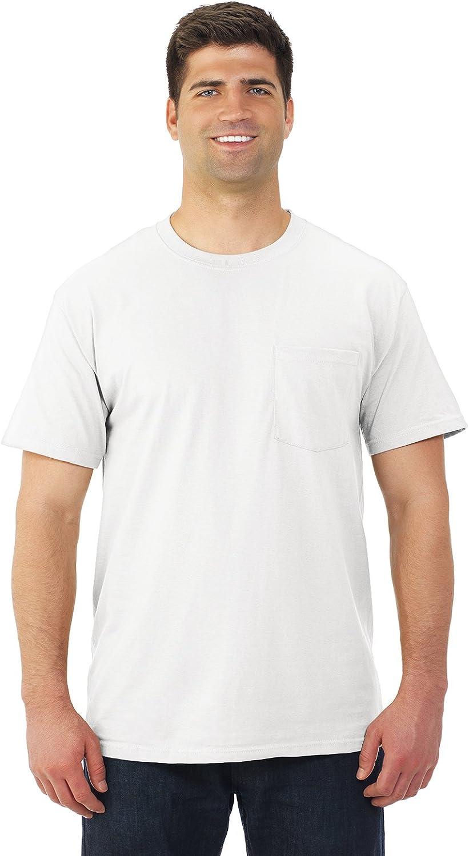 Fruit of the Loom 5.6 oz Cotton Pocket T-Shirt - WHITE - XX-Large