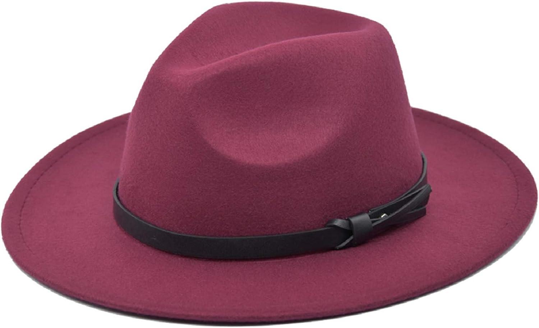 Voqeen Vintage Herbst Winter Wollhut Herren Damen Flat Top Cowboy Hut Breite Traufe Hut Gro/ße Krempe Hut Retro M/änner Frauen Kopfbedeckung
