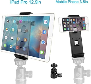 ohCome Phone Tablet Tripod Mount Adapter   Aluminium Multi-Angle Tablet Stand Desktop Holder Dock Fits 3.5-12.9