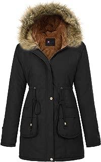 Women's Hooded Warm Winter Faux Fur Thicken Fleece Parkas Long Coat