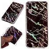 Custodia Huawei P20, MHHQ Bling Marble Design Case Silicone Protettivo Skin Ultra Sottile ...