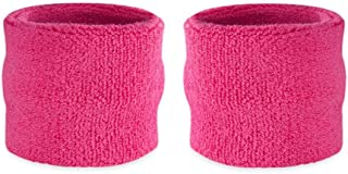 Suddora Kids Wrist Sweatbands - Athletic Cotton Terry Cloth Sports Wristbands for Kids (Pair)