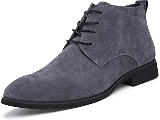 Mens Suede Fur Lining Chukka Boots Oxford Leather High Handmade Flats Driving Lace-up Ankle Desert Sneaker Winter Snow Boots