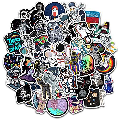Wasserfeste Vinyl Sticker Set CHEPL 100 Stück Spaceman Aufkleber Vinyl Aufkleber Graffiti Aufkleber Decals Universum Planet Stickers, für Laptop Koffer Helm Motorrad Skateboard Auto
