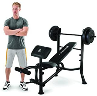 Marcy Standard Weight Bench (80-Pound Weight Set MWB20101)