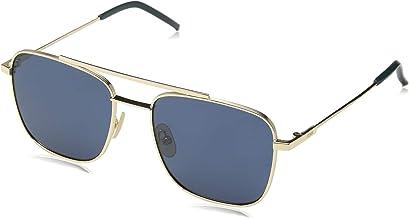 نظارات شمسية من فيندي باطار فضي FFM0008S-000-55، 58, (ازرق), 55-18-145