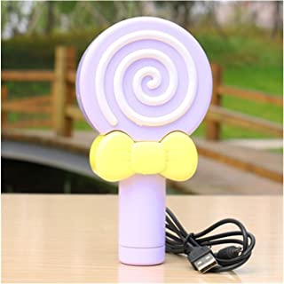 JULABO Durable Sweet Lollipop Mini Fan USB de Poche Portable Rond Ventilateur électrique en Plein air Une Vitesse de Refro...