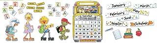 Eureka Suzy's Zoo Bulletin Board Calendar Set and Classroom Decorations for Teachers, 115 pcs, 25.4'' x 18''