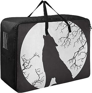 Rangement Sous Organisateur De Lit Creepy Wolf Hurlant À Minuit Pleine Lune Organisation Et Rangement Des Vêtements 70 X 5...
