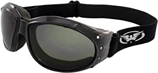 Global Vision Eliminator Padded Motorcycle Riding Goggles Anti-Scratch (Smoke)