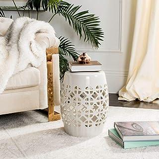 Best Safavieh Circle Lattice Ceramic Decorative Garden Stool, Cream Review