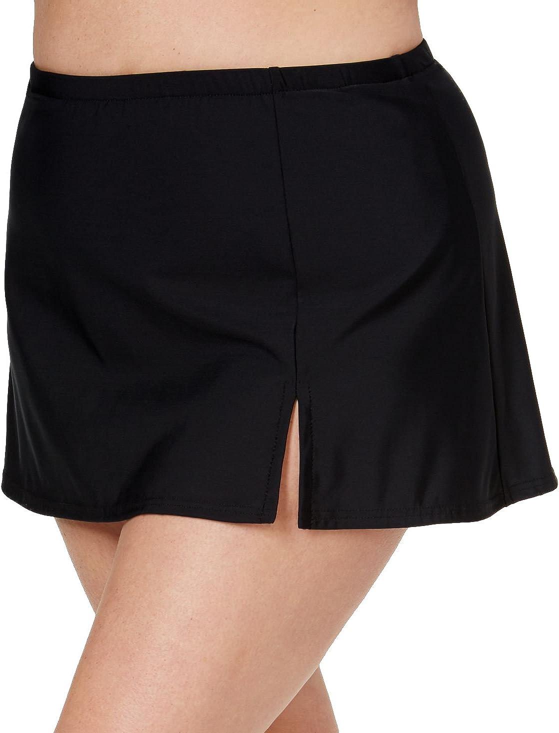 Swim Solutions Plus Size Swim Skirt, Black, 22W