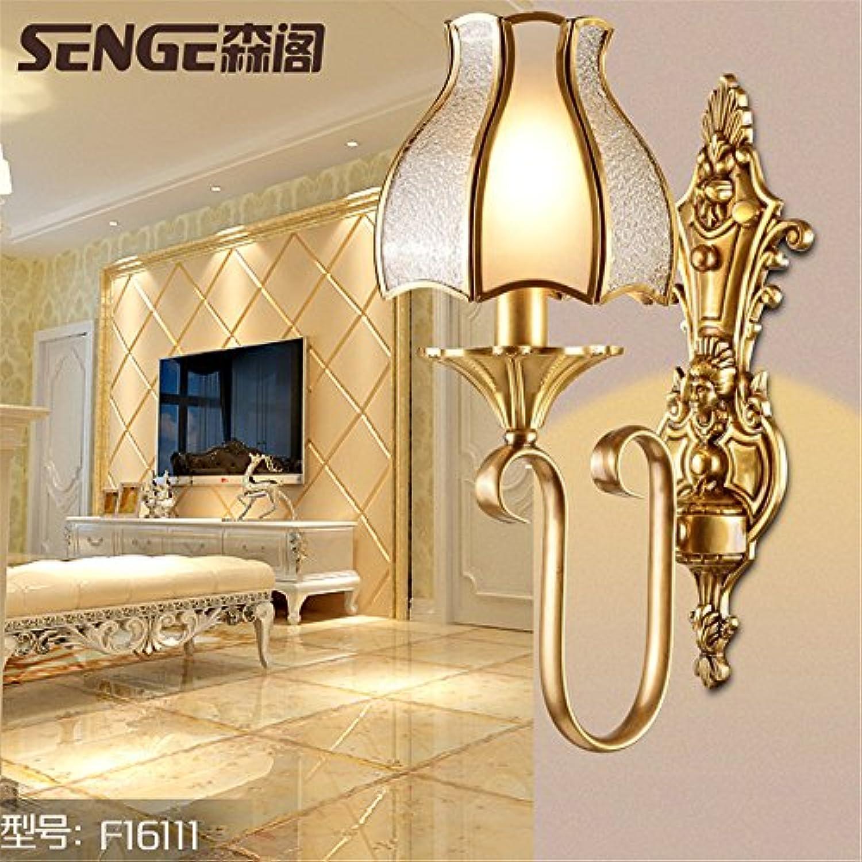 StiefelU LED Schlafzimmer sind alle Kupfer Wandleuchte Schlafzimmer Nachttischlampe aus massivem Messing Wandleuchten tv wand hintergrund Wandleuchten 16 X 35 CM