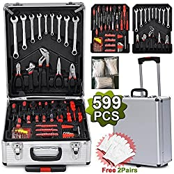Yaheetech Mechanic Kit Box Case Toolbox Trolley