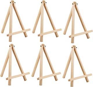 MEEDEN 9.5 inch Tall Pine Wood Tripod Easel, Adjustable Painting Holder, Art Decoration Display Stand Easels, Hold Canvas ...