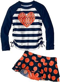 Vivobiniya Kids Swimsuits Girl's Two-Piece Long Sleeve Swimsuits UPF50+
