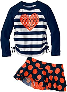 Kids Swimsuits Girl's Two-Piece Long Sleeve Swimsuits UPF50+