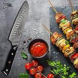 Zelite Infinity Santoku Messer 18cm –Küchenmesser der Alpha-Royal-Serie – Damastmesser aus Japanischem AUS-10 Superstahl - Damastmesser Küchenmesser – Rasiermesserscharf, Höchste Schnitthaltigkeit - 2