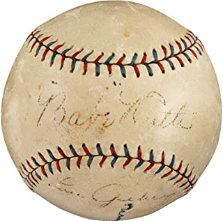 Babe Ruth Lou Gehrig Signed Autographed 1927 OAL Baseball PSA/DNA