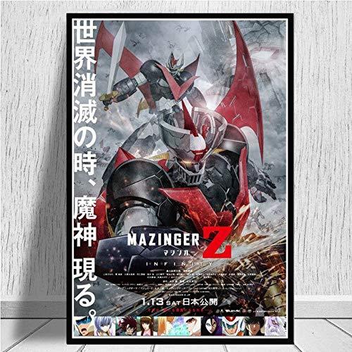 wqmdeshop Mazinga Z Infinity Film Giapponese Manga Anime Bambini Poster E Stampe Wall Art Pittura Immagini Home Decor 50X70Cm
