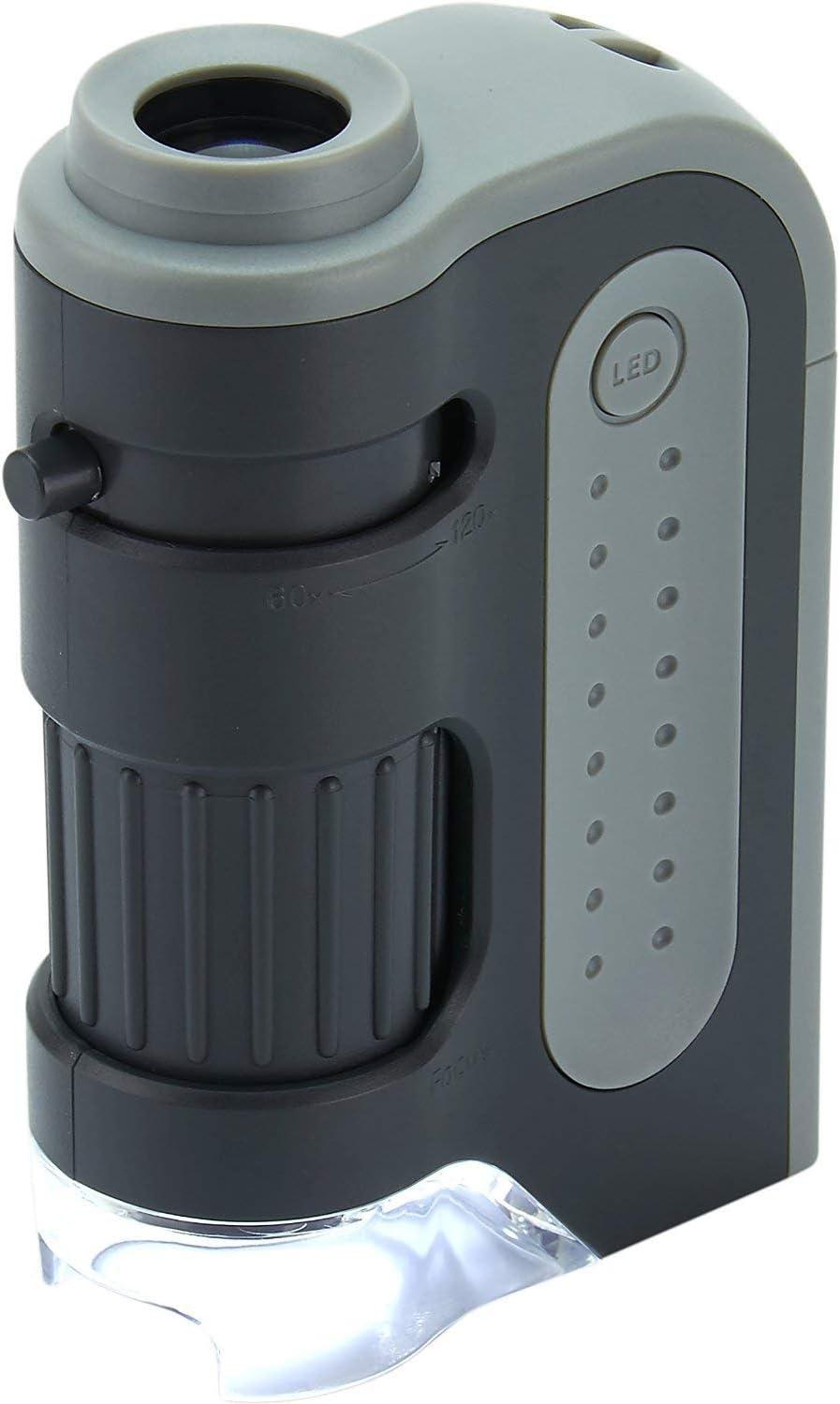 Carson MicroBrite Plus 60x-120x LED Lighted Pocket Microscope : Camera & Photo