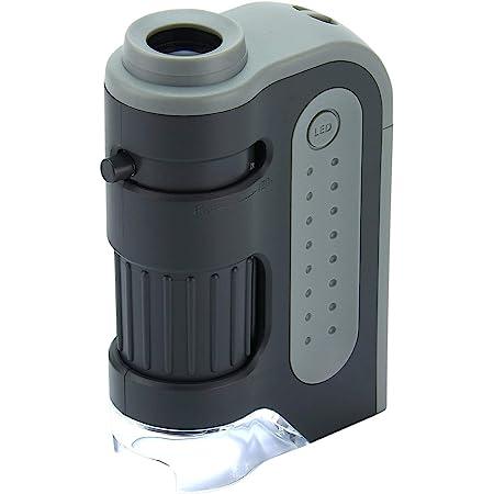 Carson MM-300 Microscopio de Bolsillo, Aumento 60x-120x, con Iluminación LED, Negro, SG-12
