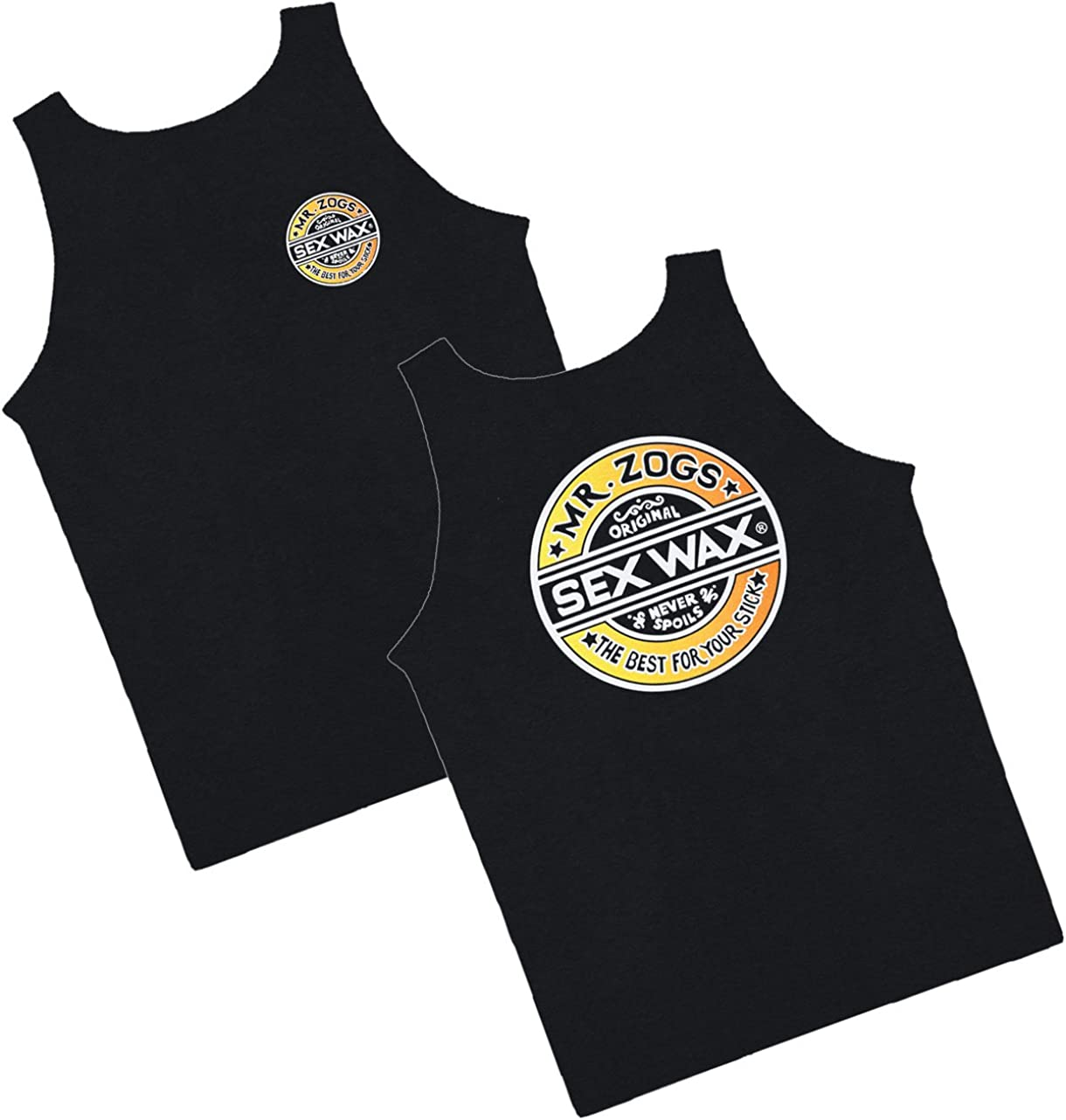 Sex Wax Men's Tank Top Portland Mall Choose unisex Fade and Black Size The Style