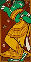 Berkin Arts Jamini Roy Giclee Canvas Print Paintings Poster Reproduction(Painting of Dancing Gopi) Large Size19.8 x 39 inches