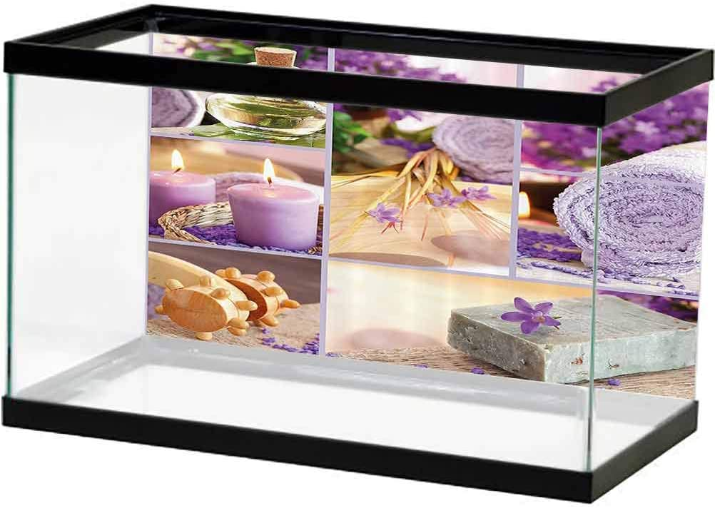 Spa Decor Fort Worth Mall Fish Popularity Tank Background Poster Relaxing Themed J Lavender