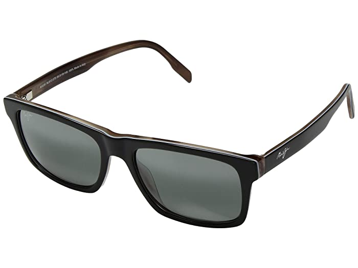 Maui Jim  Waipio Valley (Black/Grey/Tan Horn) Fashion Sunglasses
