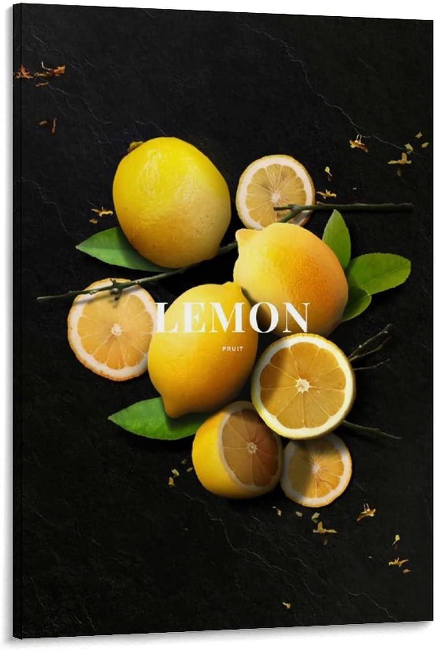 Lemon Black New sales Background Photography Charac FruitLandscape Department store Art