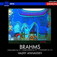 Brahms: Piano Works Vol. 2 by Valery Afanassiev (2010-08-18)