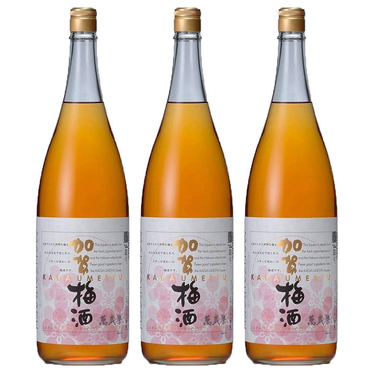 敏感な区別する垂直萬歳楽 加賀梅酒 1800ml(瓶) (3本)