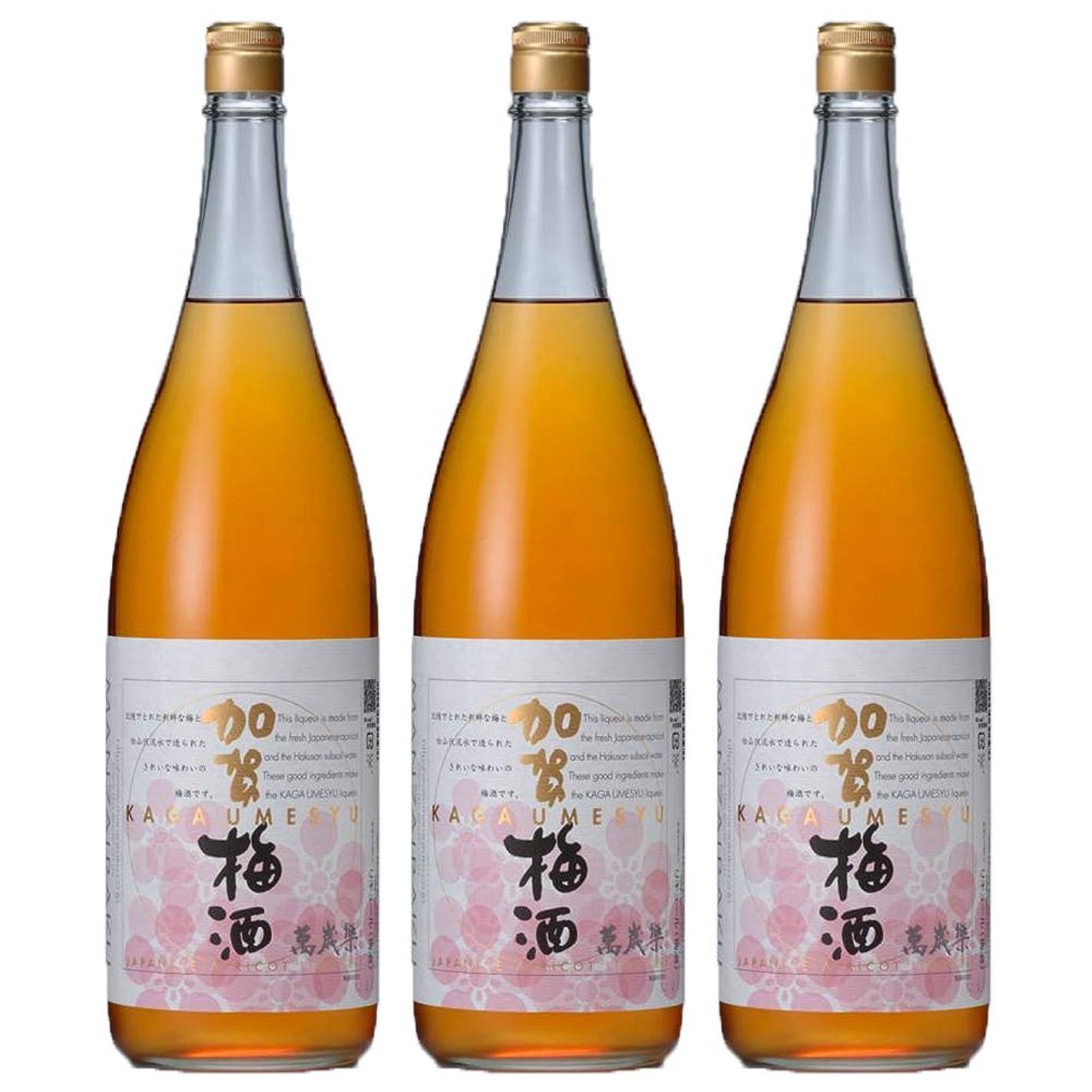 不機嫌震えるぼかし萬歳楽 加賀梅酒 1800ml(瓶) (3本)