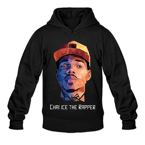 855085ecdd8 AK79 Men s Hoodies Chance Rapper Music Portrait Size M Black