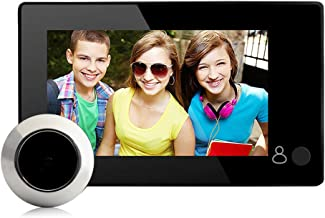 Home Peephole Camera HD, Peephole Viewer, 4.3 inch Color Screen Electric Door Viewer-LCD Security Camera Monitor 145° Wide Angle Lens-No Motion Sensor Doorbell for Home Security (Black)