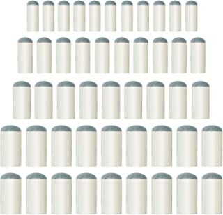 Aboat 50 Pieces 4 Sizes Pool Cue Tips Slip-On Billiard Cue Tips Replacement, 9 mm, 10 mm, 12 mm, 13 mm