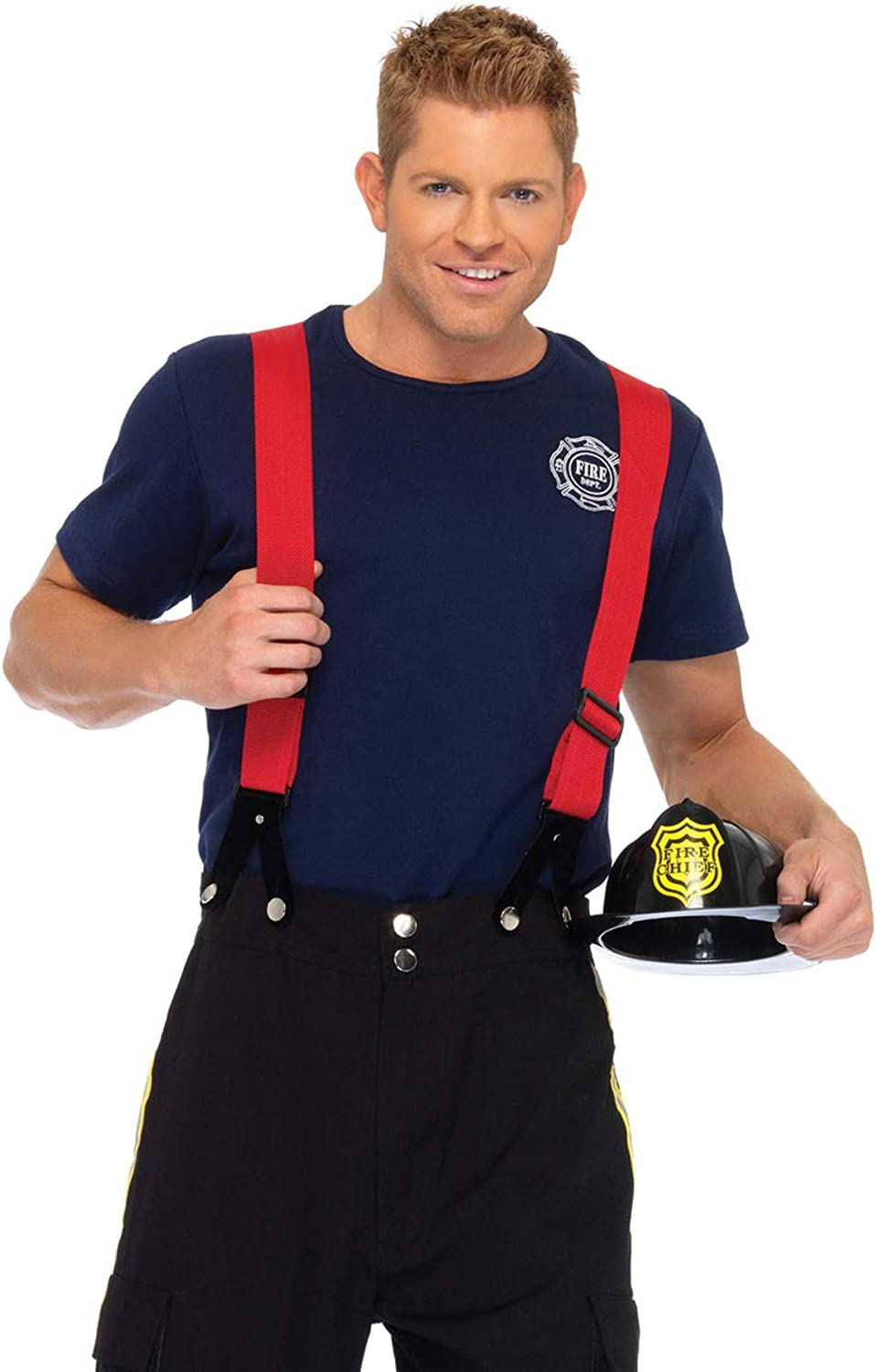 Leg Avenue Men's 3 Captain Costume Cash Directly managed store special price Fire Piece