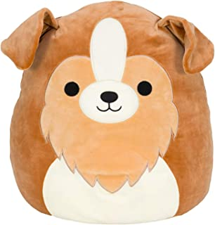 """Squishmallow Official Kellytoy Plush 8"""" Andres The Sheltie- Ultrasoft Stuffed Animal Plush Toy"""