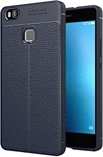 ESYI AYSMG For Huawei P9 Lite Litchi Texture TPU Protective Back Cover Case(Black) (Color : Navy Blue)