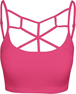 bd24f19809828 Crisscross Seamless Padded Bralette – Caged Cami Top with Removable Pads  Small to Plus Size 1