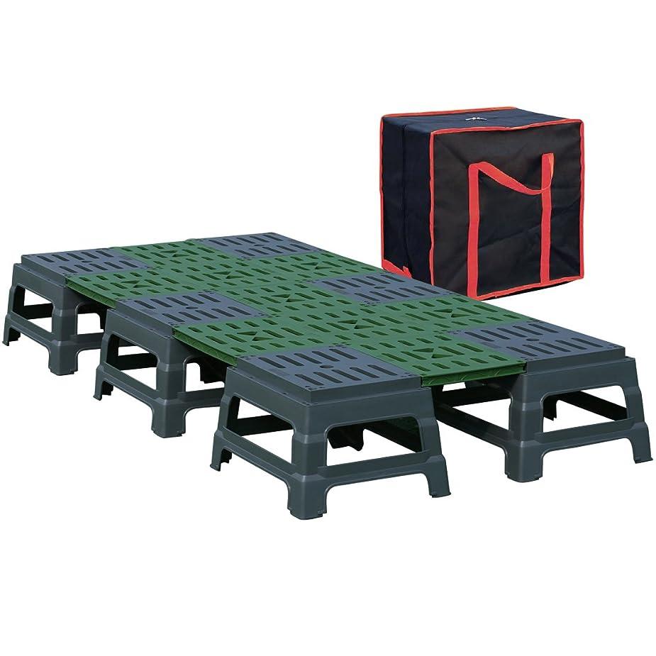 スキャンダラスありふれたテクニカルJACKAL SUN プレハブ縁台 テーブル イス ベッド 多機能 アウトドアデッキ 耐荷重400kg 連結式 海 川 砂浜 水辺 Surfs