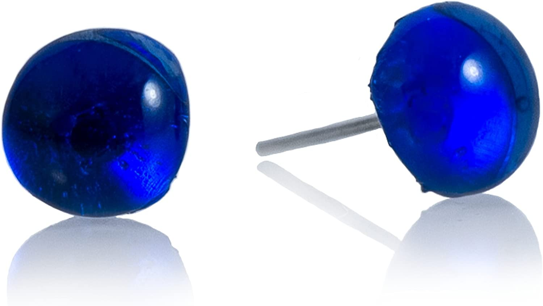 Moneta Jewelry, Stud Earrings, Recycled Glass Ball, Handmade, Fair Trade, Beautiful Gift for Women