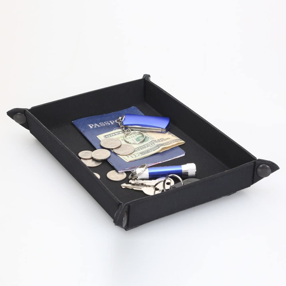 Collapsible Travel Tray Black Nightstand Max 80% OFF Collapsibl Jewelry Omaha Mall