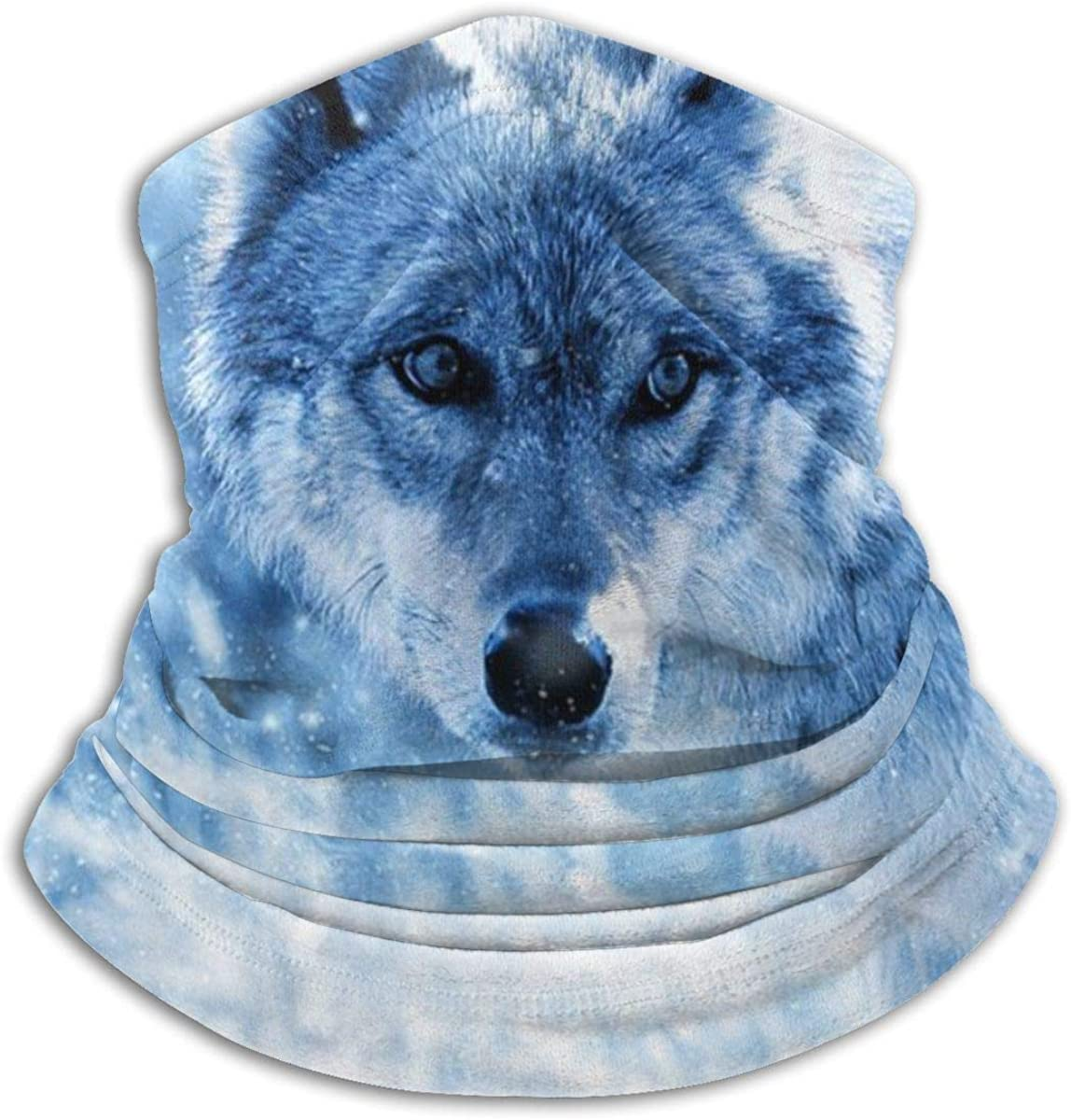 Animal Wolf Snow Art Neck Gaiter Headwear Headband Head Wrap Scarf Mask Neck/Ear Warmers Headbands Perfect For Winter Fishing, Hiking, Running, Motorcycle Etc& Daily Wear For Men And Women