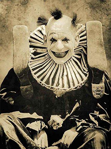 Gatsbe Exchange an 8x10 Photo Creepy Scary Clown Photo Vintage Circus Photo Weird